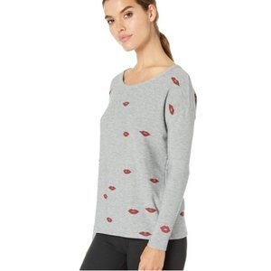 Chaser Lip Toss Cozy Knit Long Sleeve Top Med